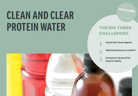 Clean and clear protein water handout